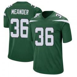 Game Men's Montrel Meander New York Jets Nike Jersey - Gotham Green