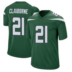 Game Men's Morris Claiborne New York Jets Nike Jersey - Gotham Green