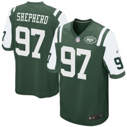 Game Men's Nathan Shepherd New York Jets Nike Team Color Jersey - Green