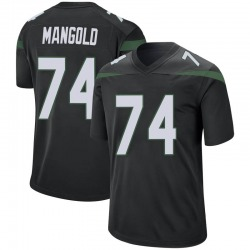 Game Men's Nick Mangold New York Jets Nike Jersey - Stealth Black