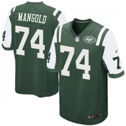 Game Men's Nick Mangold New York Jets Nike Team Color Jersey - Green