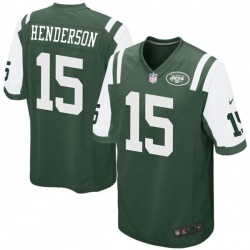 Game Men's Quadree Henderson New York Jets Nike Team Color Jersey - Green