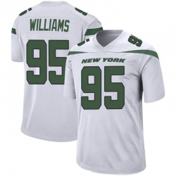 Game Men's Quinnen Williams New York Jets Nike Jersey - Spotlight White