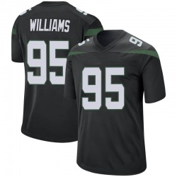 Game Men's Quinnen Williams New York Jets Nike Jersey - Stealth Black