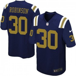 Game Men's Rashard Robinson New York Jets Nike Alternate Jersey - Navy Blue