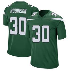 Game Men's Rashard Robinson New York Jets Nike Jersey - Gotham Green