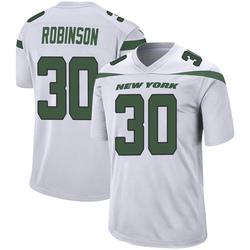 Game Men's Rashard Robinson New York Jets Nike Jersey - Spotlight White