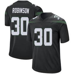 Game Men's Rashard Robinson New York Jets Nike Jersey - Stealth Black