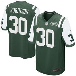 Game Men's Rashard Robinson New York Jets Nike Team Color Jersey - Green