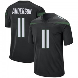 Game Men's Robby Anderson New York Jets Nike Jersey - Stealth Black