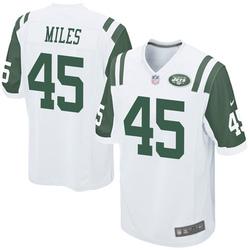 Game Men's Rontez Miles New York Jets Nike Jersey - White