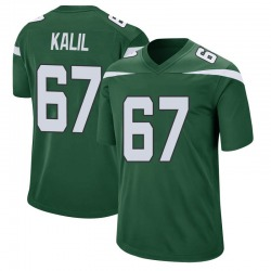 Game Men's Ryan Kalil New York Jets Nike Jersey - Gotham Green