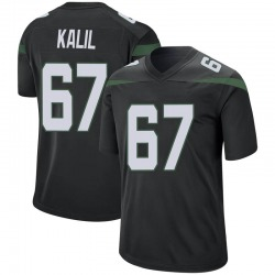 Game Men's Ryan Kalil New York Jets Nike Jersey - Stealth Black