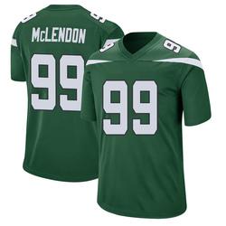 Game Men's Steve McLendon New York Jets Nike Jersey - Gotham Green