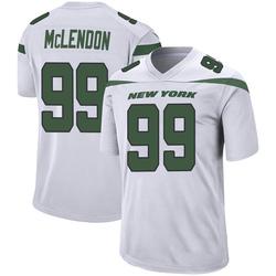 Game Men's Steve McLendon New York Jets Nike Jersey - Spotlight White
