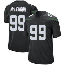 Game Men's Steve McLendon New York Jets Nike Jersey - Stealth Black