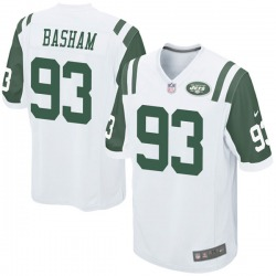 Game Men's Tarell Basham New York Jets Nike Jersey - White