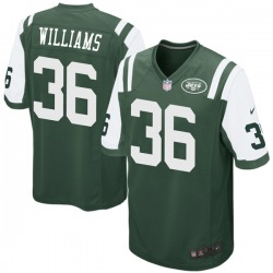 Game Men's Terry Williams New York Jets Nike Team Color Jersey - Green