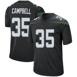 Game Men's Tevaughn Campbell New York Jets Nike Jersey - Stealth Black