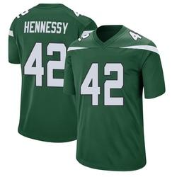 Game Men's Thomas Hennessy New York Jets Nike Jersey - Gotham Green