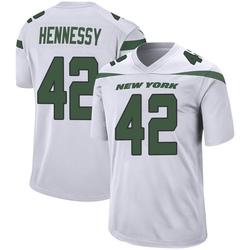 Game Men's Thomas Hennessy New York Jets Nike Jersey - Spotlight White