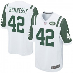 Game Men's Thomas Hennessy New York Jets Nike Jersey - White