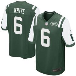 Game Men's Tim White New York Jets Nike Green Team Color Jersey - White