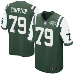 Game Men's Tom Compton New York Jets Nike Team Color Jersey - Green