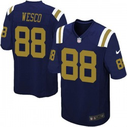 Game Men's Trevon Wesco New York Jets Nike Alternate Jersey - Navy Blue