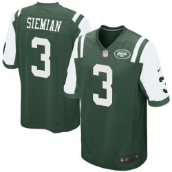 Game Men's Trevor Siemian New York Jets Nike Team Color Jersey - Green