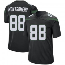 Game Men's Ty Montgomery New York Jets Nike Jersey - Stealth Black