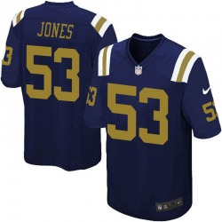 Game Men's Tyler Jones New York Jets Nike Alternate Jersey - Navy Blue