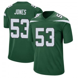 Game Men's Tyler Jones New York Jets Nike Jersey - Gotham Green
