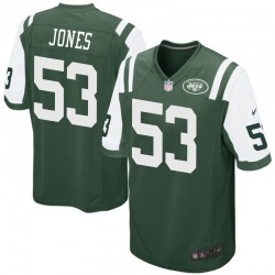 Game Men's Tyler Jones New York Jets Nike Team Color Jersey - Green