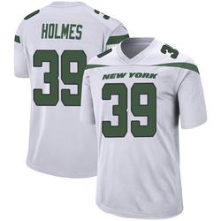 Game Men's Valentine Holmes New York Jets Nike Jersey - Spotlight White