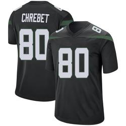 Game Men's Wayne Chrebet New York Jets Nike Jersey - Stealth Black