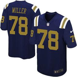 Game Men's Wyatt Miller New York Jets Nike Alternate Jersey - Navy Blue