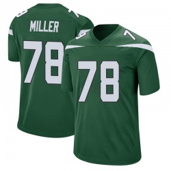 Game Men's Wyatt Miller New York Jets Nike Jersey - Gotham Green