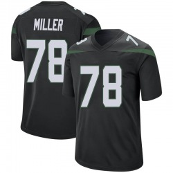 Game Men's Wyatt Miller New York Jets Nike Jersey - Stealth Black