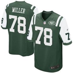 Game Men's Wyatt Miller New York Jets Nike Team Color Jersey - Green