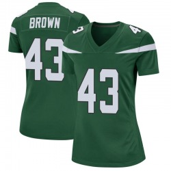 Game Women's Alex Brown New York Jets Nike Jersey - Gotham Green