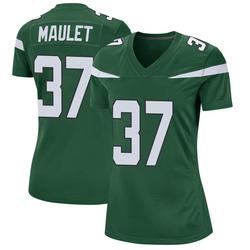 Game Women's Arthur Maulet New York Jets Nike Jersey - Gotham Green