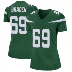 Game Women's Ben Braden New York Jets Nike Jersey - Gotham Green