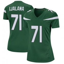 Game Women's Ben Ijalana New York Jets Nike Jersey - Gotham Green