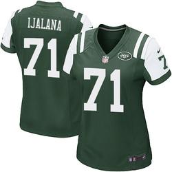 Game Women's Ben Ijalana New York Jets Nike Team Color Jersey - Green