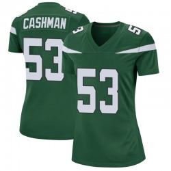Game Women's Blake Cashman New York Jets Nike Jersey - Gotham Green