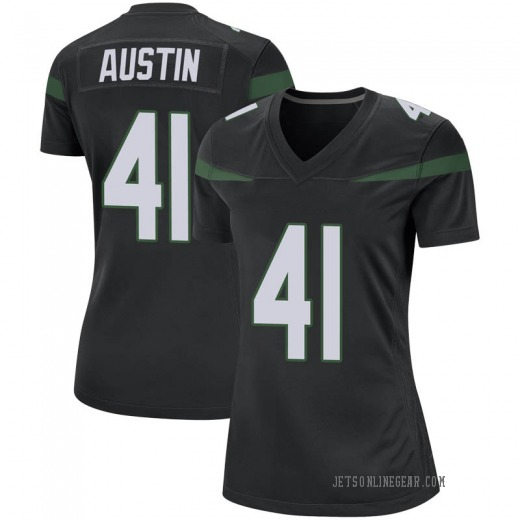 Game Women's Blessuan Austin New York Jets Nike Jersey - Stealth Black