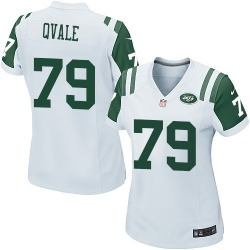 Game Women's Brent Qvale New York Jets Nike Jersey - White