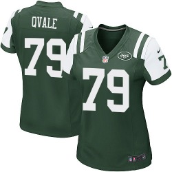 Game Women's Brent Qvale New York Jets Nike Team Color Jersey - Green