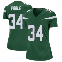 Game Women's Brian Poole New York Jets Nike Jersey - Gotham Green
